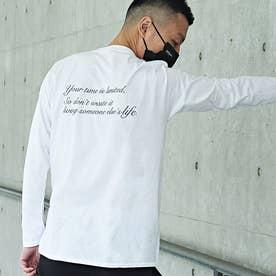 メンズ 長袖 Tシャツ Alphabet (ホワイト)