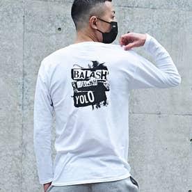 メンズ 長袖 Tシャツ (ホワイト)