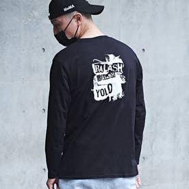 メンズ 長袖 Tシャツ (ブラック)