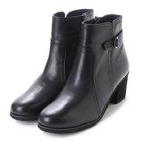 ベルト付ショートブーツ (ブラック)