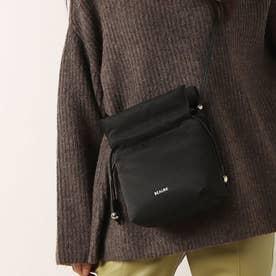 カウレザー ボンディング 軽量 巾着 ショルダーバッグ (ブラック雑材)