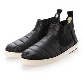 キルティングサイドゴアスニーカーブーツ (ブラック)