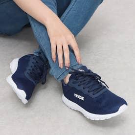 <moz>マスコット付軽量靴紐スニーカー (ネイビー)