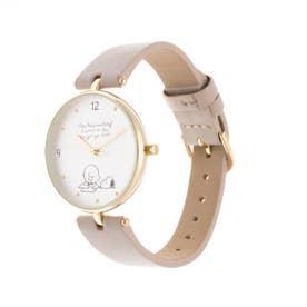<スヌーピー>デザイン缶付腕時計 (グレー)