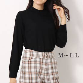メリノウール100%ハイネックセーター (クロ)