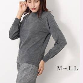 メリノウール100%ハイネックセーター (モクグレー)