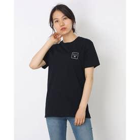 レディース サーフ 半袖Tシャツ SQUARE LOGO TEE BB013-224  (ブラック)