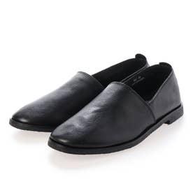 クレープソールレザーエスパドリーユ (BLACK (BLACK SOLE))
