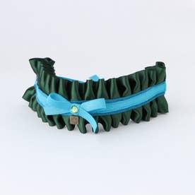 フランソワカラー 小型犬アクセサリー首輪 【返品不可商品】 (グリーン)