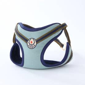 ローレルストライプソフトハーネス M 小型犬用胴輪 (ブルーグレー×ネイビー)
