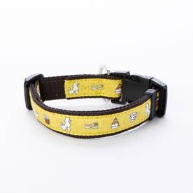 mimi pinson ティータイムカラー M 中型犬用ワンタッチバックル首輪 【返品不可商品】 (イエロー)