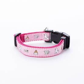 mimi pinson ティータイムカラー S 小型犬用ワンタッチバックル首輪 【返品不可商品】 (ピンク)