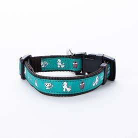 mimi pinson ティータイムカラー M 中型犬用ワンタッチバックル首輪 【返品不可商品】 (グリーン)