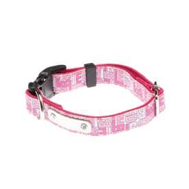 モノグラムカラー S 小型犬用ワンタッチバックル首輪 【返品不可商品】(ピンク)