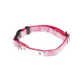 モノグラムカラー SS 小型犬用ワンタッチバックル首輪 【返品不可商品】(ピンク)