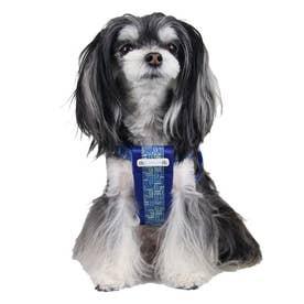 モノグラムハーネス S 小型犬胴輪 【返品不可商品】 (ブルー)
