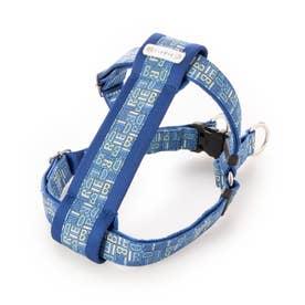 モノグラムハーネス M 小~中型犬胴輪 【返品不可商品】 (ブルー)