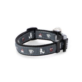mimi pinson ティータイムカラー M 中型犬用ワンタッチバックル首輪 【返品不可商品】(ブラック)