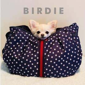 スターデニムカンガルーキャリー 小型犬抱っこキャリーバッグ (ネイビー)