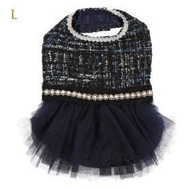 ツイードココドレス  L ブラック (ブラック) 【返品不可商品】