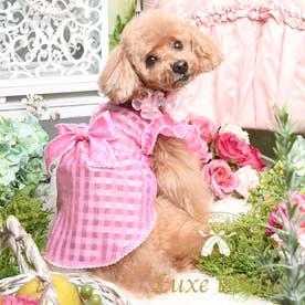 エアリーチェックワンピース M ピンク【返品不可商品】 (ピンク)
