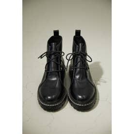 laceーup boots BLK