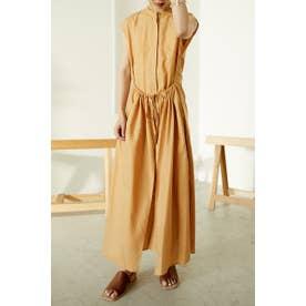 apron shirt dress L/ORG1