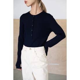 washable henry neck tops NVY