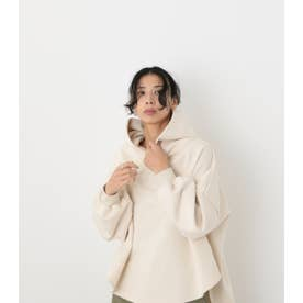 over size tent line hoodie O/WHT1