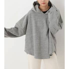 over size tent line hoodie T.GRY