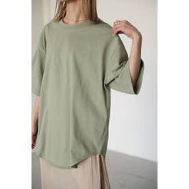 round hem over t-shirt L/GRN1