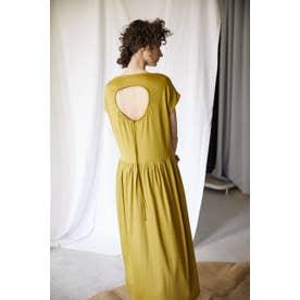 back hole dress YEL