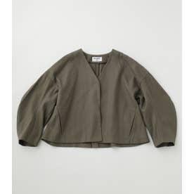 cocoon sleeve short jacket KHA