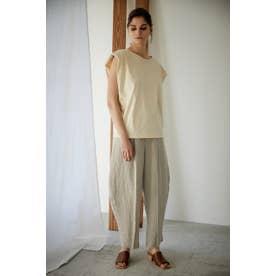 slit round pants L/BEG1