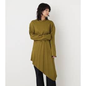high neck drape shirt KHA