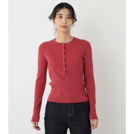washable henry neck tops RED