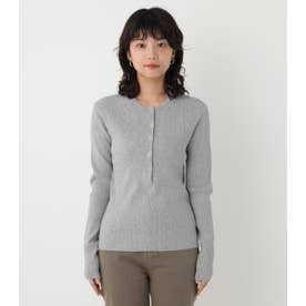 washable henry neck tops T.GRY
