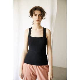 back cross knit camisole BLK
