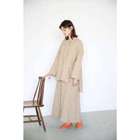 stripe flare skirt 柄BEG5