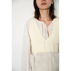 washable vest O/WHT1