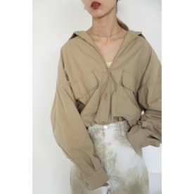 cotton big shirt BEG