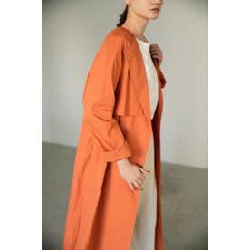 no collar drape trench coat ORG