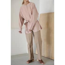 henley neck blouse L/PNK1