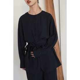 henley neck blouse NVY