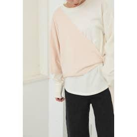 knit layered tops O/WHT1