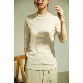 washable bottle neck knit tops BEG