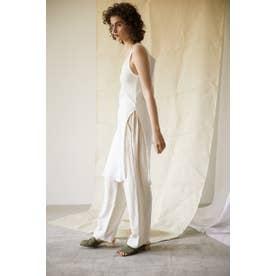 rayon linen easy pants O/WHT1