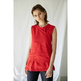 one shoulder tanktop RED