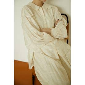 gather sleeve shirt O/WHT1