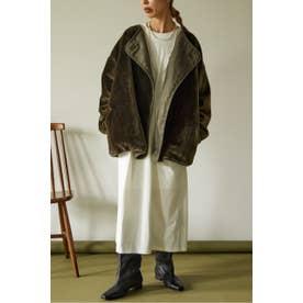eco short fur jacket KHA